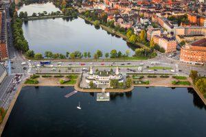 Luftfoto af Søpavillonen, København