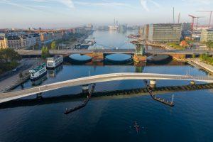 Luftfoto af Lille Langebro, København